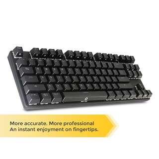 DREVO Tyrfing 87 Key Mechanical Keyboard White Backlit Wired Black Switch Black (茶軸)