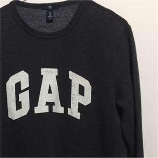 🚚 GAP 大學t 鋪棉 刷毛 鐵灰色 s號 近全新 二手