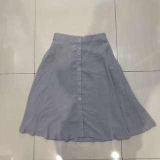 Berrybenka Grey Midi Skirt