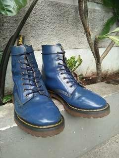 Sepatu Boots Dr. Martens x Solovair vintage navy