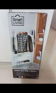 BNIB Clothes Rack with 2 shelves