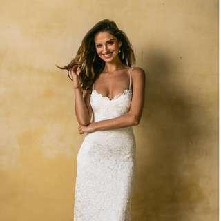 Grace Loves Lace Wedding Gown - Mia, XS, Brand New in Box, without train, Added cups