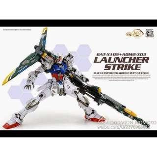 [Rare!]MG Launcher Strike Gundam + Sword Striker Pack v2.0 Dragon Momoko