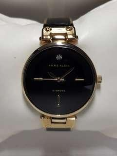 Stunning Black Acrylic and Rose Gold Diamond Klein watch for ladies