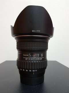Tokina 11-16 F2.8 IF DX for Nikon Mount