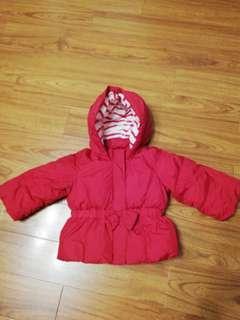 Baby Gap 女孩夾棉抓毛樓,size 18-24months