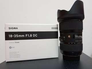 Sigma 18-35mm 1.8 DC HSM Art Lens for Nikon