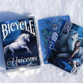 Bicycle 啤牌 - Unicorns by Anne Stokes & John Woodward 🦄