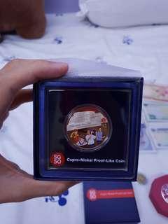 🚚 SG50 cupro-nickel $2 coin
