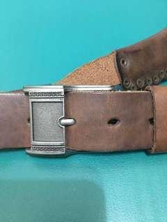 🚚 手工銅卯釘真皮造型皮帶腰帶