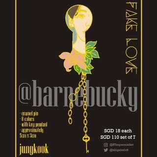 🚚 SG GO Fake Love Enamel Pins by @barnebucky