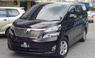 Vellfire alphard for rent short/longterm