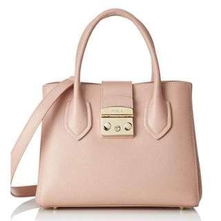 Furla Metropolis hand bag small pink