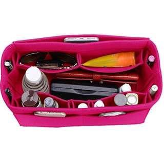 Felt Purse Organizer, Bag in Bag Organizer For Tote & Handbag, (Medium, Rose)