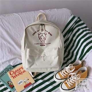 🚚 #088 korean harajuku retro school backpack