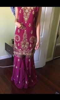 Pakistani/Indian Gharara Suit