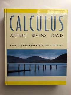 Calculus Textbook (10th edition) - Anton, Bivens, Davis