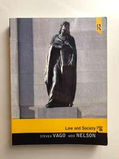Law and Society Textbook - Steven Vago and Adie Nelson