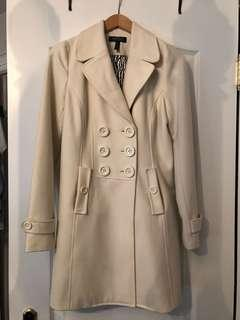 Buffalo David Bitton White/Cream Trench Coat