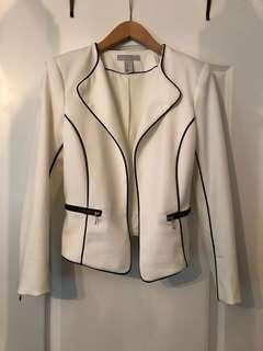 H&M white blazer jacket