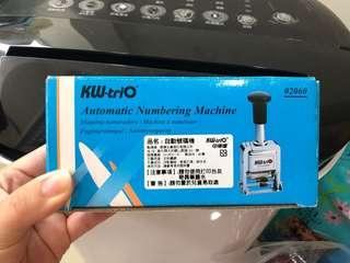 【KW-triO】自動跳號號碼機。6位。二手