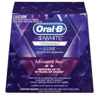 22 New sealed Oral B teeth whitening strips BARGAIN