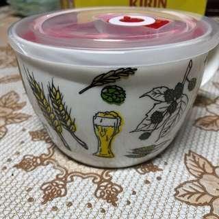 🚚 全新麥繪瓷碗附蓋子