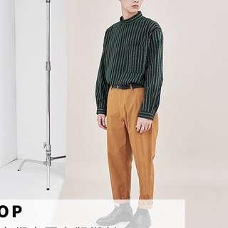 plain me 套頭襯衫 綠色條紋