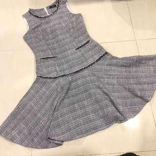 🚚 Hue Drop Waist Flare Dress