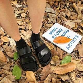 🚚 #093 Korean minimalist unisex strappy sandals
