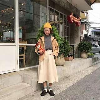🚚 #094 Korean minimalist maxi aline long skirt