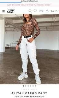 Aliyah Cargo Pants - White