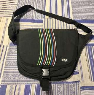 Black with Colorful Stripes Laptop Bag