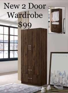 🚚 Wardrobe 2 door ( New )