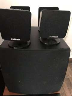 yamaha mini ht speakers with subwoofer