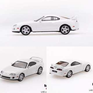Mini GT 1/64 Toyota Supra (JZA80) Super White (RHD)