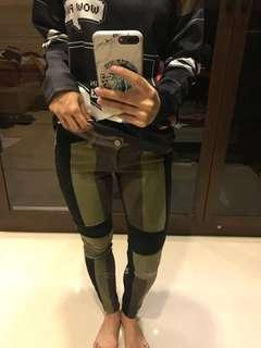 Celana bahan mirip jeans tp lentur