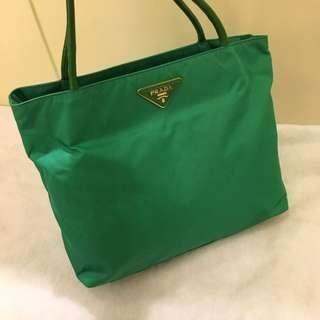 Prada 綠色托特包/肩背包/購物包