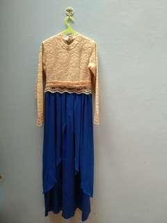 Gamis dress pesta bahan brukat