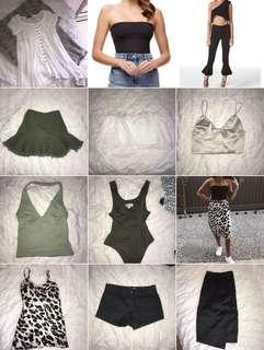 Selling skirts tops shorts dresses ALL
