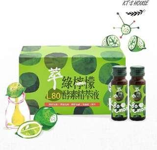 🚚 [達觀酵素]萃綠檸檬~代謝酵素L80酵素精粹液一盒(20mlx12瓶)