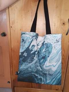 Acrylic Pour Tote Bag