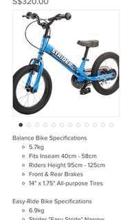 🚚 Strider balance bike bicycle