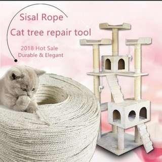 Cat Scratching Sisal Rope Repair