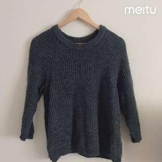zara woollen knit