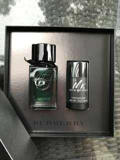 Mr Burberry Eau de Toilette gift set with deodorant