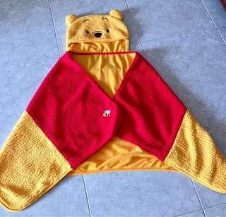 Pooh Onesie / Cape / Wrap with Hoodie