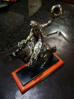 925 Silver Cowboy & Horse figure