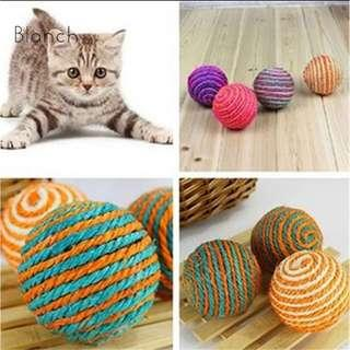 Cat Toy Sisal Rope Weave Ball, Scratch Toy