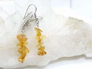 Citrine chips earrings
